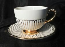A WEDGWOOD GOLD EDME CUP & SAUCER, DATED.1956 , PERFECT