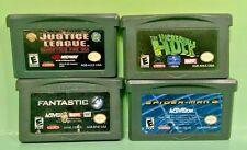 Incredible Hulk Spider-Man Justice League Fantastic 4 -Nintendo Game Boy Advance
