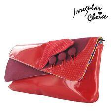 Irregular Choice Flick Flack Rojo Para Mujer Nueva Mano Bolso de embrague