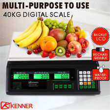 Kitchen Scale Digital Commercial Shop Electronic Weight Scales Food 40KG BLCD