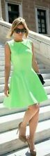 £149 Ted Baker Azelia A-line Green Pleated Skater Dress Neon Green size 2 UK 10