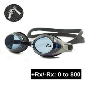 Optical Swim Goggles +Rx -Rx Swimming Glasses Custom Strength Adults Children