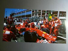 2004 Ferrari Formula 1 GP of France Rubens Barrichello Print Picture Poster RARE