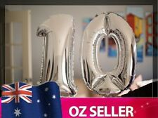 """Silver Foil Helium number balloon - 10th Brithday Party 40"""" inch 100cm AUS STOCK"""