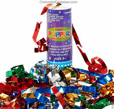 Amscan Confetti Party Poppers New Years Eve Birthday Mardi Gras Celebraton 12/pk
