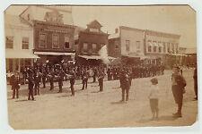 RARE Orig Albumen Photo - Naples NY Street - Ingleside Band GAR Parade 1870s