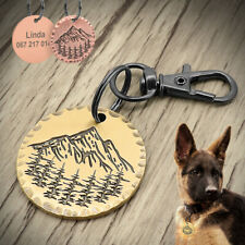 Stainless Steel Pet ID Tags Dog Tags Personalized Back Engraving Round Gold Tag