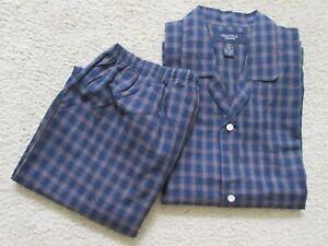 Nautica Men Pajama Set Large Lightweight Long Sleeve Cotton Sleepwear Lg NWOT