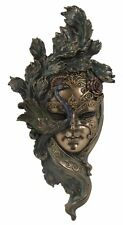 Veronese Bronze  Venetian Wall Plaque Mask Statue Gift Home Decor Collectables