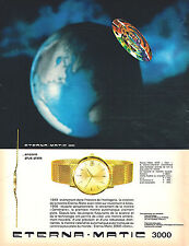 PUBLICITE ADVERTISING 015  1964  ETERNA MATIC 3000   collection montre