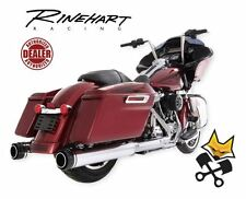 "RINEHART 4.5"" SLIP ON MUFFLERS W/ BLACK END CAPS HARLEY 1995-16 TOURING 500-0108"