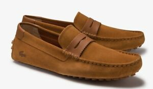Lacoste Concours Nautic  Suede Driving Men's Slip-On Loafers Shoes UK 8 EU 42