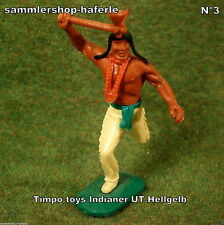 Timpo Toys Made in GT.Britain Indianer mit Tomahawk & Hell Gelber Hose