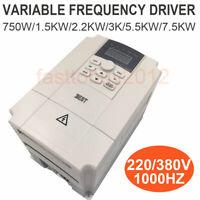 VFD Inverter 220V 380V Variable Frequency Driver 1.5KW 2.2KW 3KW 5.5KW 7.5KW CNC
