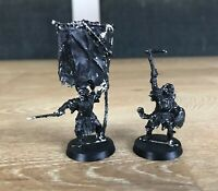 Warhammer Lord of The Rings LOTR Metal MORDOR ORC STANDARD BEARER & CAPTAIN