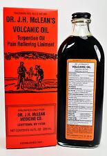 Dr. J.H. McLean's Volcanic Oil Pain Relieving Liniment 10 Oz Original New
