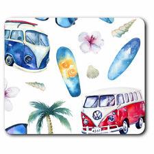 Computer Mouse Mat - Camper Van Surfing Surf Bus Office Gift #8197