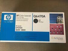 HP Q6470A Black 3600 3800 Toner Cartridge  New In Box Sealed CP305