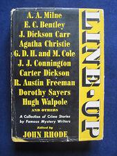 LINE-UP Ed by JOHN RHODE Crime Stories MILNE, CARR, CHRISTIE, CHESTERTON, etc.