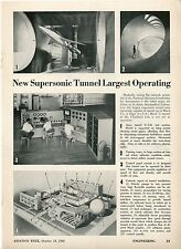 1948 Aviation Article Supersonic Wind Tunnel Ames Aeronautical Lab Cleveland