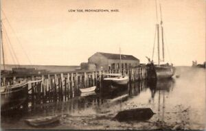 Low Tide at Provincetown Massachusetts Old Postcard Unused Free Shipping! B11