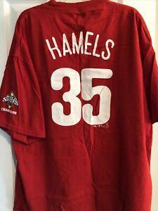 Cole Hamels Philadelphia Phillies Tee Shirt XL 2008 World Series Champions