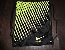Nike Alpha mens womens drawstring bag Volt black NWOT new