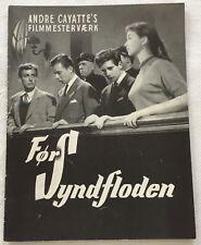 Avant le déluge Marine Vlady Bernard Blier Miranda Vtg 1954 Danish Movie Program