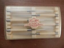 Carvel Hall - Set of 6 Steak Knives + Case - by Chas D Briddell Made in USA