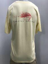 """New Coastal Cotton """"Fishing Lure"""" T-Shirt, Yellow, M"""