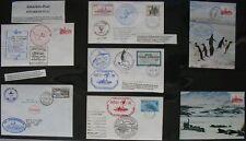 s1355) Antarktis 16 Belege PFS Polarstern 1987/88 Helikopterflüge China-Station