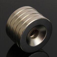 5 Pezzi Lotto Magnete Neodimio 20x3mm con Foro 5mm Permanente NdFeB N52
