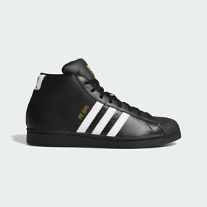 adidas Originals Pro Model Classic Shoes Black / White / Gold Trainers