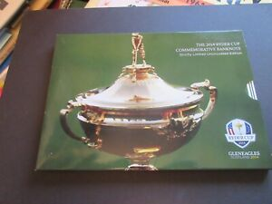 GREAT BRITAIN - ROYAL BANK OF SCOTLAND, 2014 RYDER CUP AT GLENEAGLES IN FOLDER