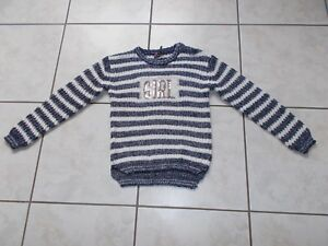 JOLI PULL MANCHES LONGUES FILLE TAILLE 10 ANS ORCHESTRA TBE