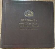 """Isolde Menges / Arthur De Greef - """"Kreutzer"""" Sonata - HMV D1066-9 - 4 Shellac 78"""