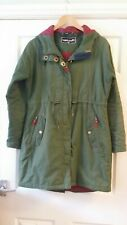Target Dry Size 12 Women's Coat Khaki Green