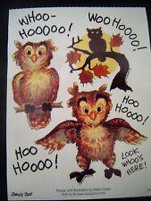 SUZY'S ZOO WHOOO-HOOOO! OWL STICKERS #9876