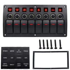 DE 12V/24V 8Gang LED Schaltpanel Schalter Kippschalter Schalttafel Auto Bus Boot
