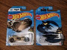 2021 Hot Wheels Batman Arkham Knight Batmobile Camo, Bat Plane