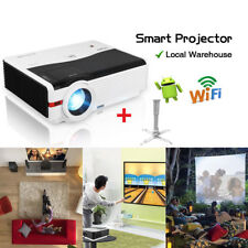 5000Lms Android Wifi Home Theater Projector Online Movie USB HDMI VGA HD+Bracket