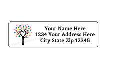 30 Heart Tree Personalized Return Address Labels 1 In X 2625 In