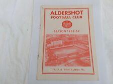 Aldershot  v Workington   Leauge  Division 4 September 1968