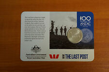 Anzac Coin WWI The Last Post 100 years of Anzac Coin
