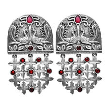 Designer Drop Dangle Earring Traditional Women Silver Plated Indian Jewelry