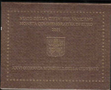 """Vatikan 2 Euro Gedenkmünze 2011 """" Weltjugendtag in Madrid """" im Original-Folder"""