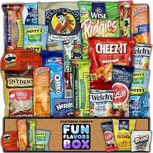 Cookies Chips Candy Snacks Care Package Variety Pack 20 Count Snack Sampler Box