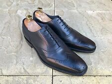 Barker Johnny Wing Tip Brogue Shoes Black Calf UK 7.5 B.N.I.B