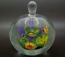 "HEILMAN & ROESSLER Double Layer 85 Aquarium Art Glass Perfume Bottle,Apr 3""Hx4""W"