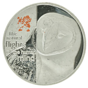 UK - Silver 5 Pound Coin - 'Barn Owl' - 2010 - Proof